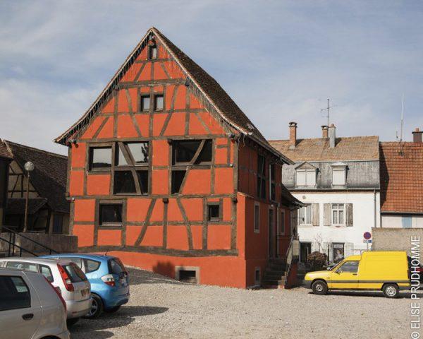 Building detail, Riedisheim, France. 2012