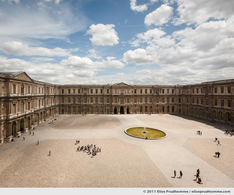 Overlooking the Cour Carré from the Louvre Museum, Paris, France, 2011 by Elise Prudhomme