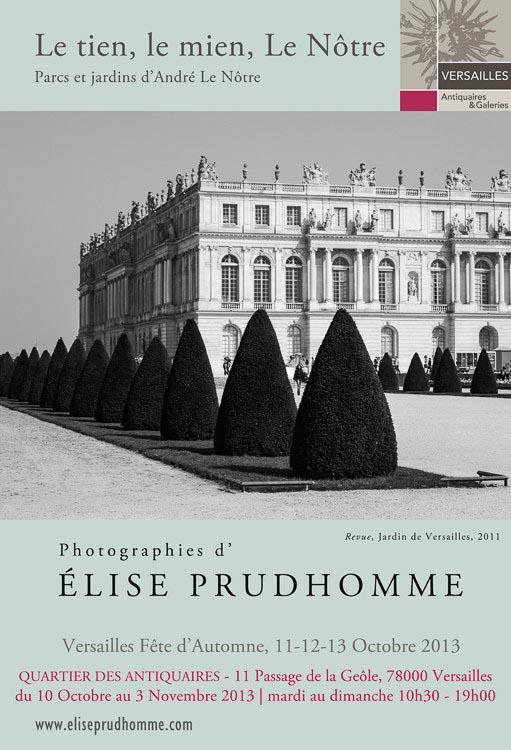 Exhibition poster for Artistes dans la rue in Versailles 2013