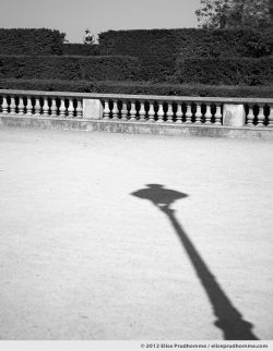 Cadran solaire or Sundial, Tuileries Garden, Paris, France, 2012 (part of the series Yours, Mine, Le Nôtre's) by Elise Prudhomme.
