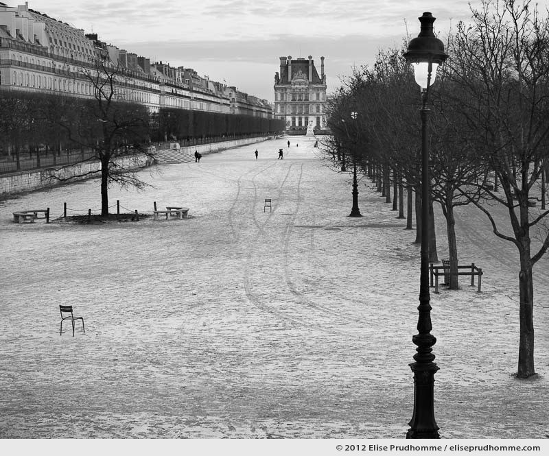 Moscou or Moscow, Tuileries Garden, Paris, France, 2012 (part of the series Yours, Mine, Le Nôtre's) by Elise Prudhomme.