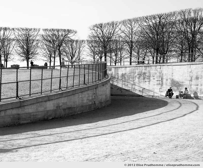 Orbite or Orbit, Tuileries Garden, Paris, France, 2011 (part of the series Yours, Mine, Le Nôtre's) by Elise Prudhomme.