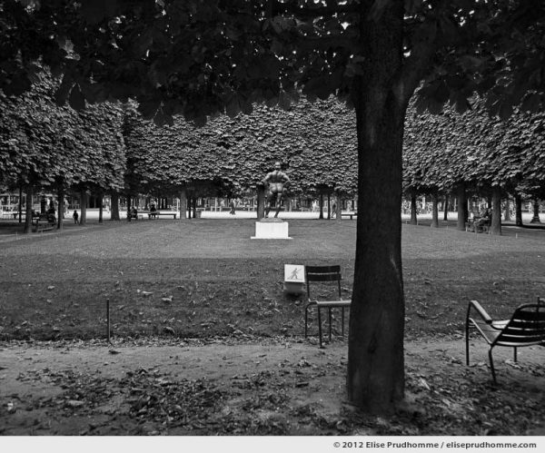 Pelouse interdite or Keep Off The Grass, Tuileries Garden, Paris, France, 2012 (part of the series Yours, Mine, Le Nôtre's) by Elise Prudhomme.