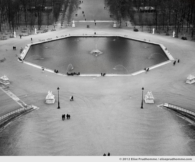 Surface, Tuileries Garden, Paris, France, 2011 (part of the series Yours, Mine, Le Nôtre's) by Elise Prudhomme.