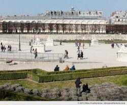 Synchro, Tuileries Garden, Paris, France, 2012 (part of the series Yours, Mine, Le Nôtre's) by Elise Prudhomme.