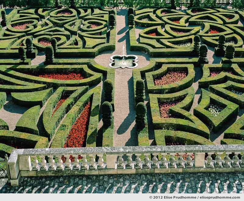 Belvedere view on the First Salon of the Ornamental Garden, Château de Villandry, France, 2012 by Elise Prudhomme