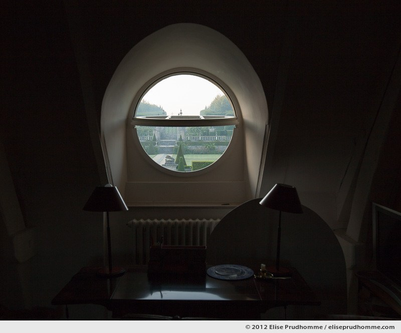 Bull's eye view of Brecy Gardens from the château, Saint Gabriel Brécy, France, 2012 (series Notable Gardens of France) by Elise Prudhomme.