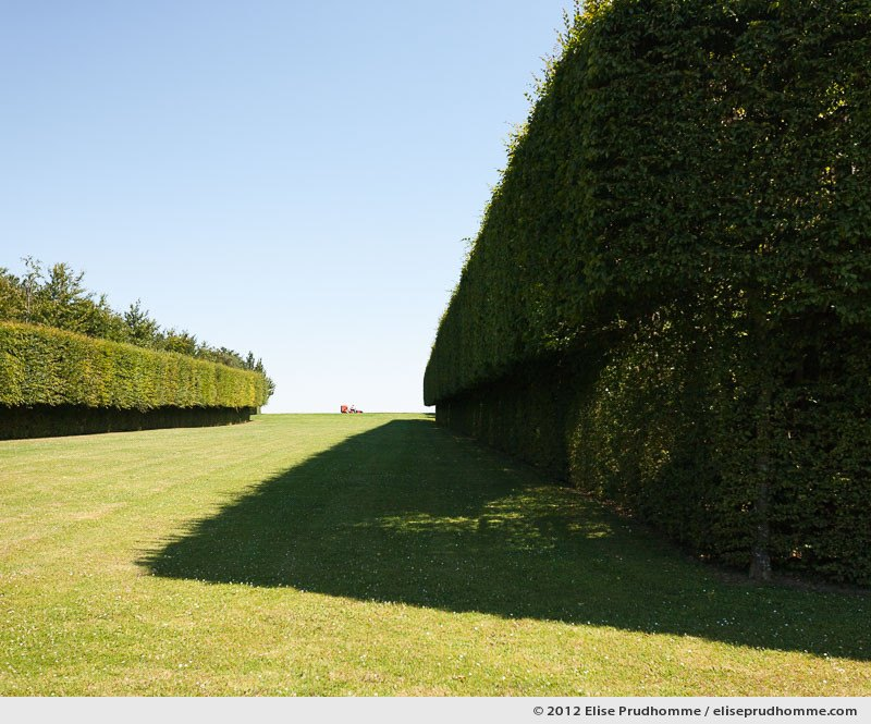 Cutting the lawn at Brecy Castle Gardens, Saint Gabriel Brécy, France, 2012 (series Notable Gardens of France) by Elise Prudhomme.