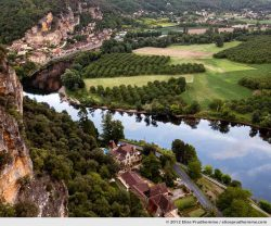 View of the Dordogne River from The Suspended Gardens of Marqueyssac, Vezac, France (series Notable Gardens of France) by Elise Prudhomme.
