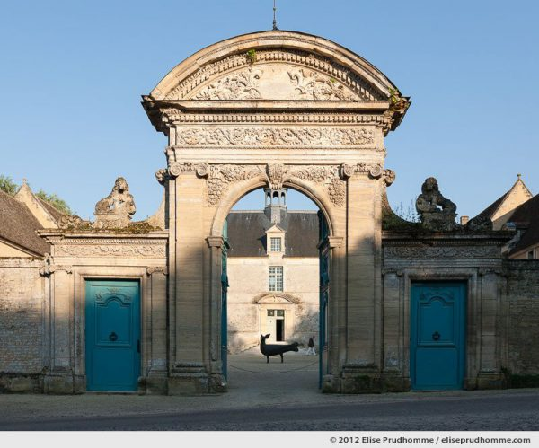 Entrance to the Château of Brécy, Saint Gabriel Brécy, France, 2012 (series Notable Gardens of France) by Elise Prudhomme.