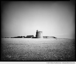 Vauban Fort seen from the islet, Tatihou Island, Saint-Vaast-la-Hougue, France. 2014 (series Sands of Time) by Elise Prudhomme.