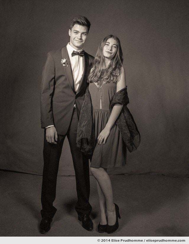 Large format film portrait taken during Prom night at the Lawn Tennis Club in Saint Mande, France 2014 by Elise Prudhomme.