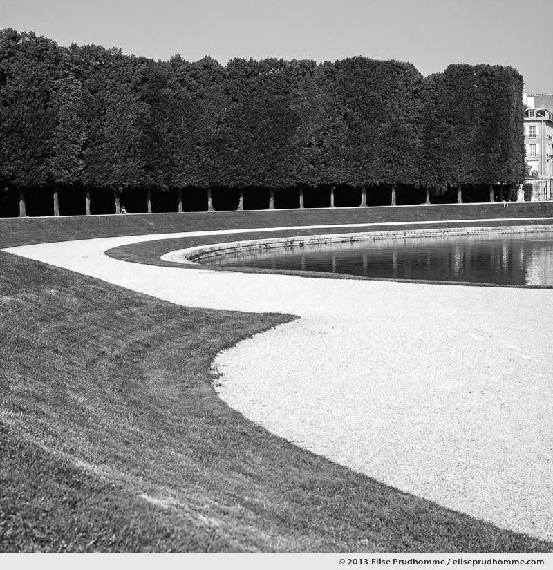 Courbes, Versailles Chateau Garden, Paris, France, 2013 (part of the series Yours, Mine, Le Nôtre's) by Elise Prudhomme.