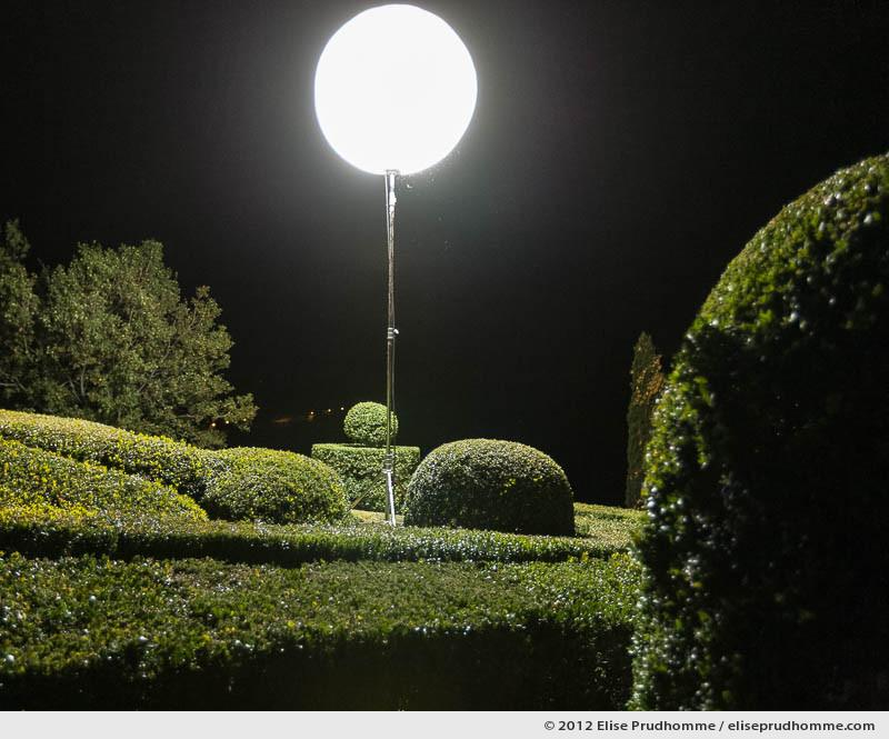 Night lamp, The Suspended Gardens of Marqueyssac, Vezac, France (series Notable Gardens of France) by Elise Prudhomme.