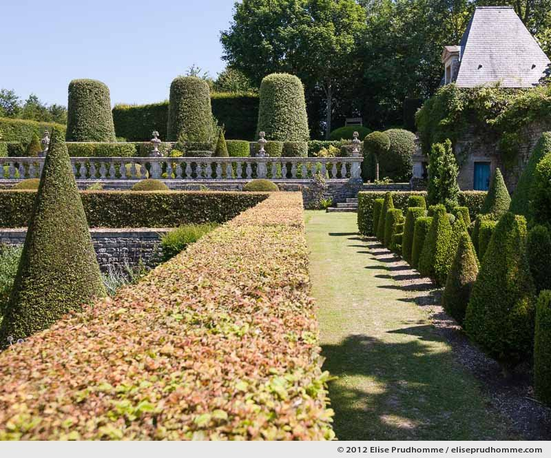 Nursery and third terrace, Brecy Castle Gardens, Saint Gabriel Brécy, France, 2012 (series Notable Gardens of France) by Elise Prudhomme.
