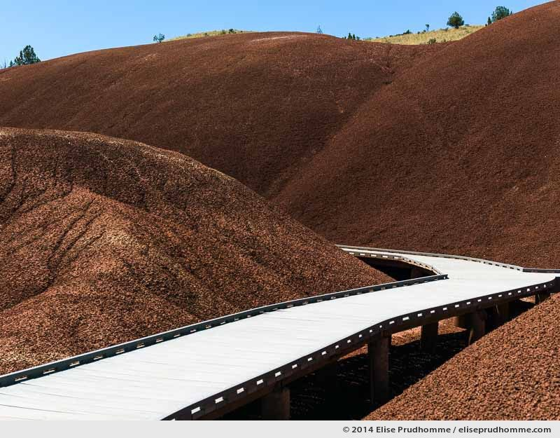 Painted Cove Trail Boardwalk, The Painted Hills, John Day, Oregon, USA. 2014 (series Wild Wild West) by Elise Prudhomme.