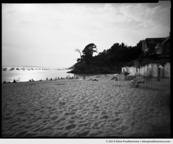 Plage de la Salinette, Saint-Briac-sur-Mer, France. 2014 (series Sands of Time) by Elise Prudhomme.