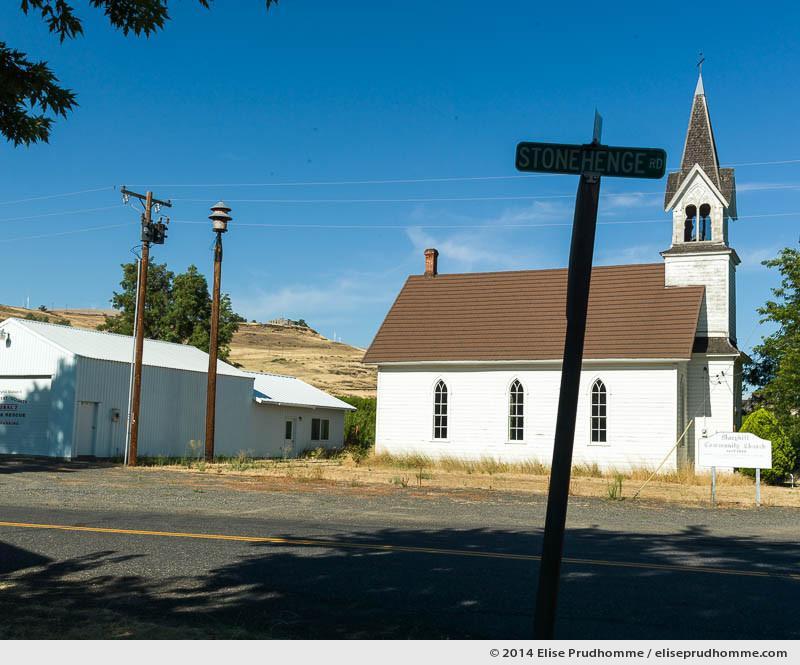Stonehenge Road, Maryhill, Washington, USA. 2014 (series Wild Wild West) by Elise Prudhomme.
