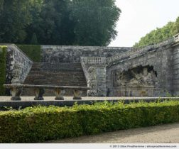 Stonework of the stairs and grotto, Vaux-le-Vicomte Castle and Garden, Maincy, France. 2013 (series Yours, Mine, Le Nôtre's) by Elise Prudhomme.