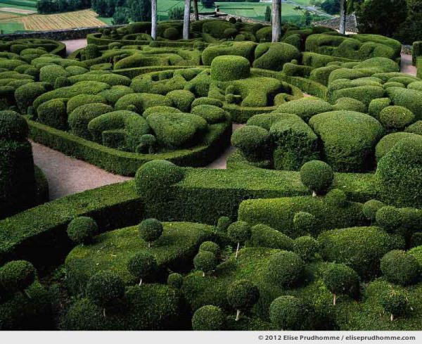 The Bastion #3, The Suspended Gardens of Marqueyssac, Vezac, France (series Notable Gardens of France) by Elise Prudhomme.