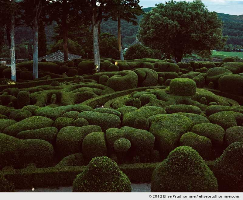The Bastion by candlelight, The Suspended Gardens of Marqueyssac, Vezac, France (series Notable Gardens of France) by Elise Prudhomme.