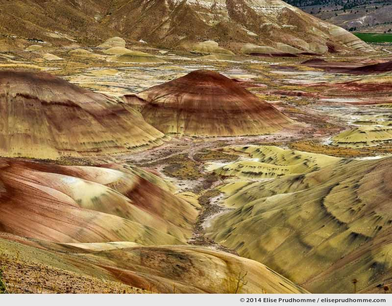 Painted Hills, John Day Fossil Beds National Monument, Oregon, USA. 2014 (series Wild Wild West) by Elise Prudhomme.