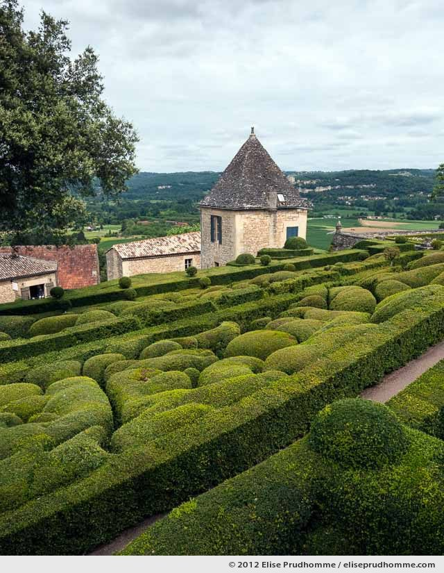 View of Fayrac, The Suspended Gardens of Marqueyssac, Vezac, France (series Notable Gardens of France) by Elise Prudhomme.