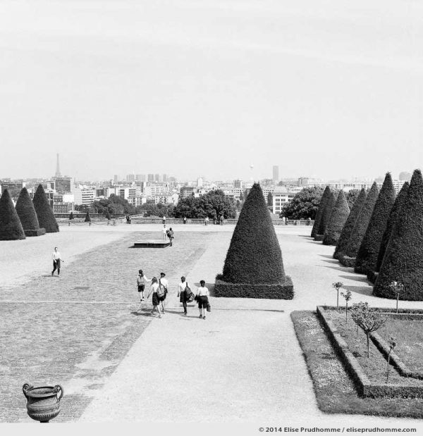 View of Paris from the Château terrace, Saint-Cloud Park, France 2014 (series Yours, Mine, Le Nôtre's) by Elise Prudhomme.