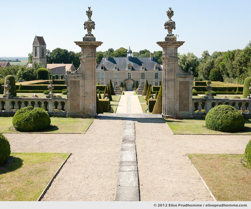 View of the château from the third terrace, Brecy Castle Gardens, Saint Gabriel Brécy, France. 2012 (series Notable Gardens of France) by Elise Prudhomme.