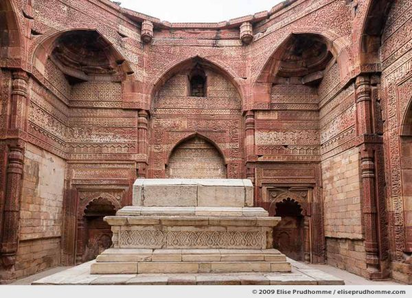 Decorated Muslim tomb of Iltutmish at Qutub Minar Complex, Delhi, India, 2009 by Elise Prudhomme.