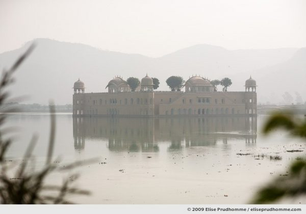 Jal Mahal, or Water Palace, in the middle of Man Sagar Lake, Jaipur, Rajasthan, India, 2009 by Elise Prudhomme.