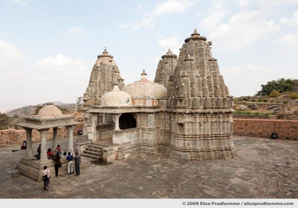 Parsvanatha Jain Temple in the Kumbalgarh Fort, Rajasthan, Northern India, 2009 by Elise Prudhomme.