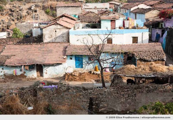 Small village inside the fortified ramparts of Kumbalgarh Fort, Rajasthan, Northern India, 2009 by Elise Prudhomme.