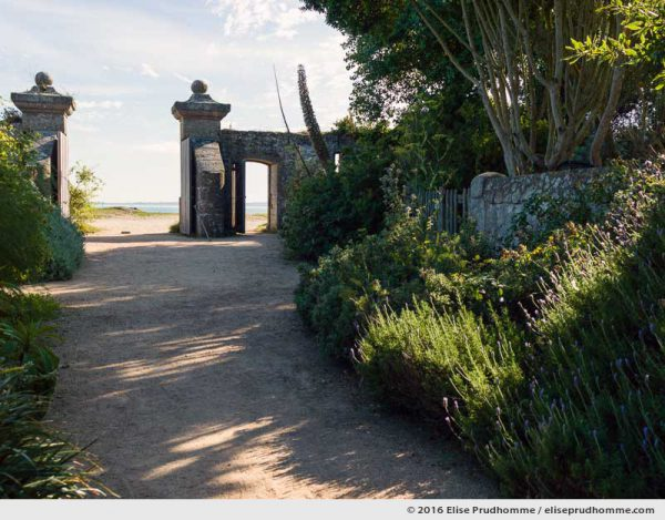 Entrance to the botanical garden (originally a lazaret), Tatihou Island, Saint-Vaast-la-Hougue, France
