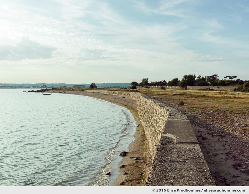 Beach at high tide, Tatihou Island, Saint-Vaast-la-Hougue, France