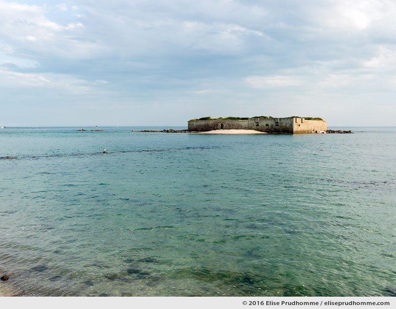 Ornithological reserve at high tide, Tatihou Island, Saint-Vaast-la-Hougue, France.