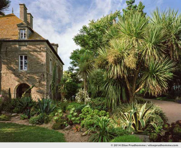 Courtyard garden and science center, Tatihou Island, Saint-Vaast-la-Hougue, France.