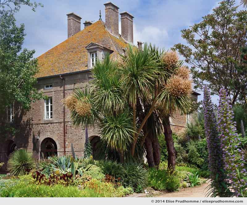 Courtyard garden and science center, Tatihou Island, Saint-Vaast-la-Hougue, France.