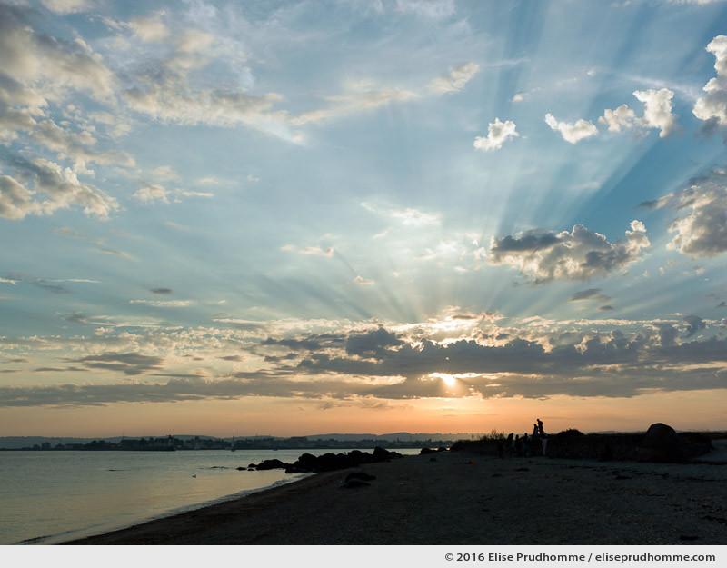 Sunset on the beach of Tatihou Island, Saint-Vaast-la-Hougue, France