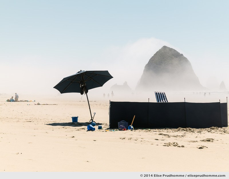 Remembering the painting by Vincent Van Gogh - La sieste, Cannon Beach, Oregon, USA, 2014 (series Wild Wild West) by Elise Prudhomme.
