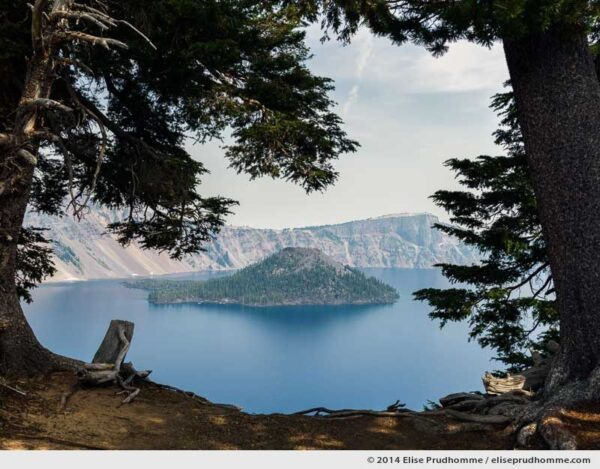 With a view of Wizard Island, Crater Lake, Oregon, USA, 2014 (series Wild Wild West) by Elise Prudhomme.