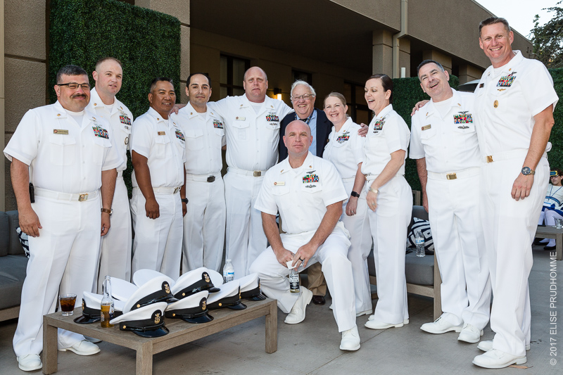 Officers of the USS Theodore Roosevelt at the TRA cocktail reception, Hilton Mission Valley, San Diego, CA on June 19, 2017.