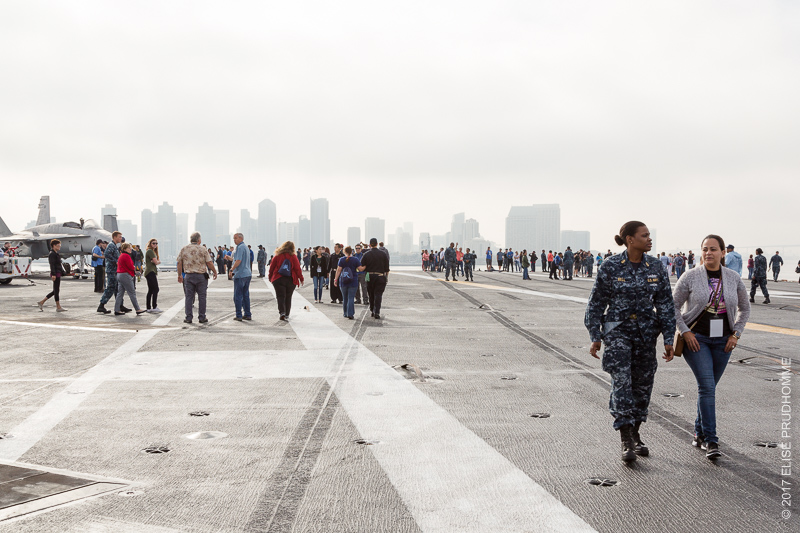 Looking back on San Diego from the flight deck of the USS Theodore Roosevelt on June 19, 2017.