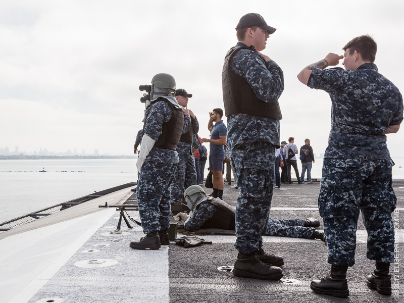 Armed and ready at all times from the flight deck of the USS Theodore Roosevelt on June 19, 2017.
