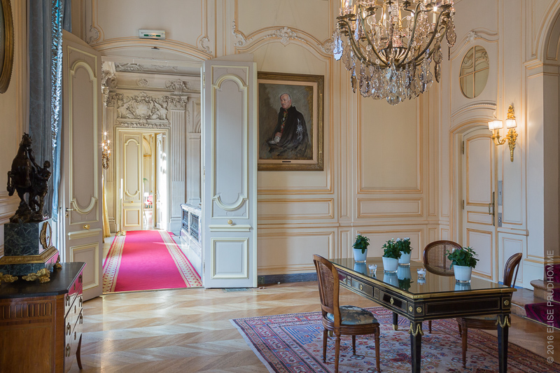 Interior view before the wedding reception at the Cercle de l'Un