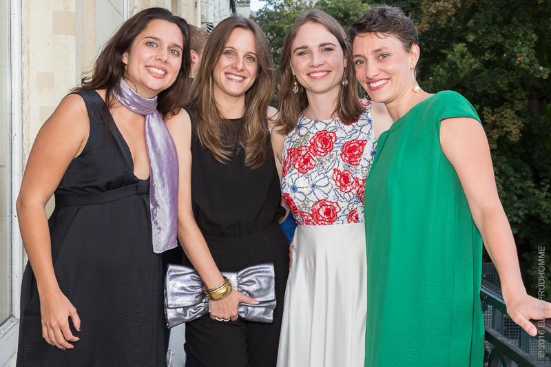 The bride and friends during her wedding reception at the Cercle