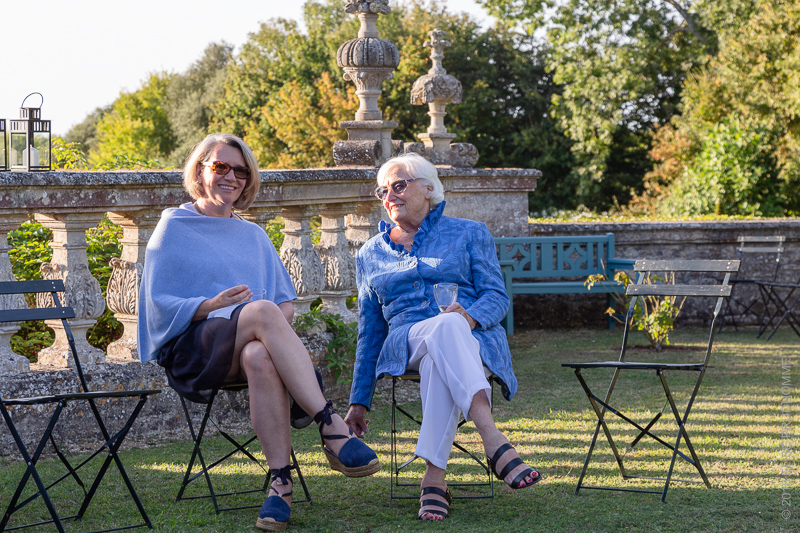 Garden Party during Patrimony Day 2018 to commemorate Barbara Wirth at Brécy Castle Gardens, Saint Gabriel Brécy, France.