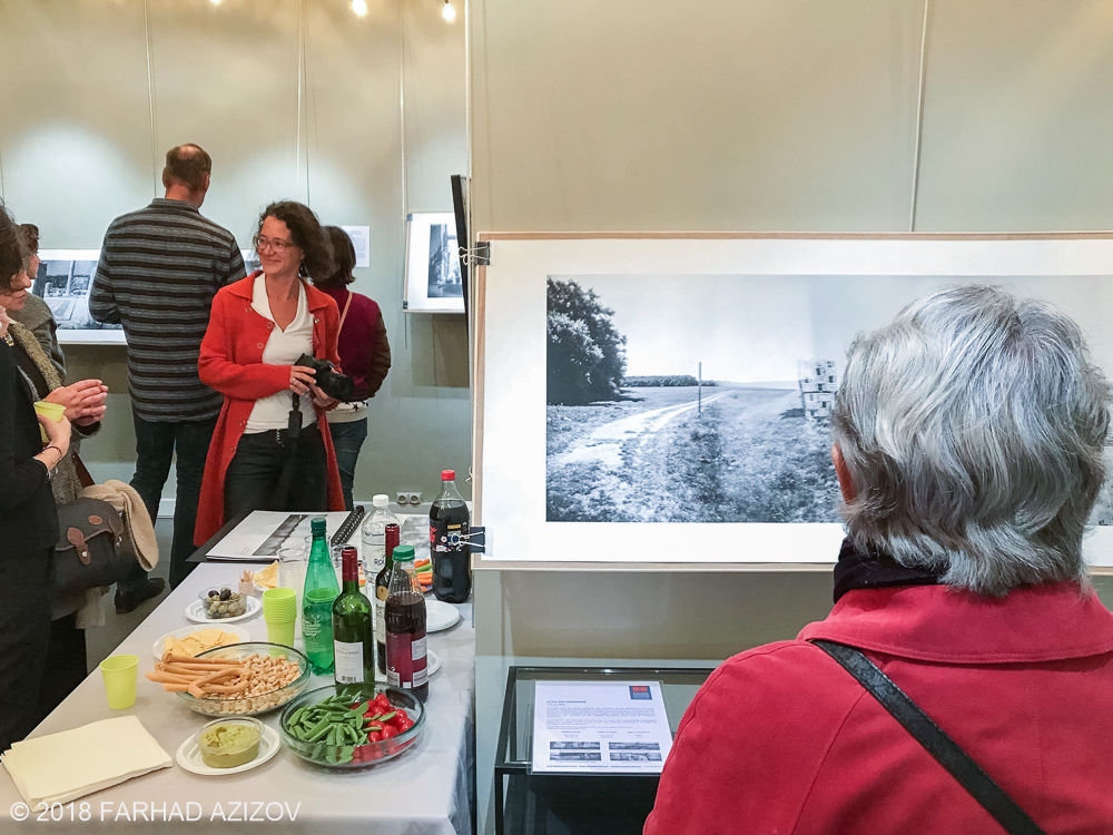 "Opening night of the photography exhibition ""Lieux-dits"" by Elise Prudhomme at Studio Galerie B&B in Paris, France."