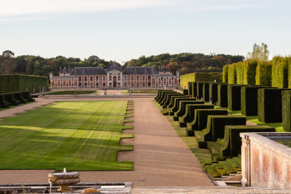 View of the Chateau du Champ de Bataille from the Great Axis, Normandy, France
