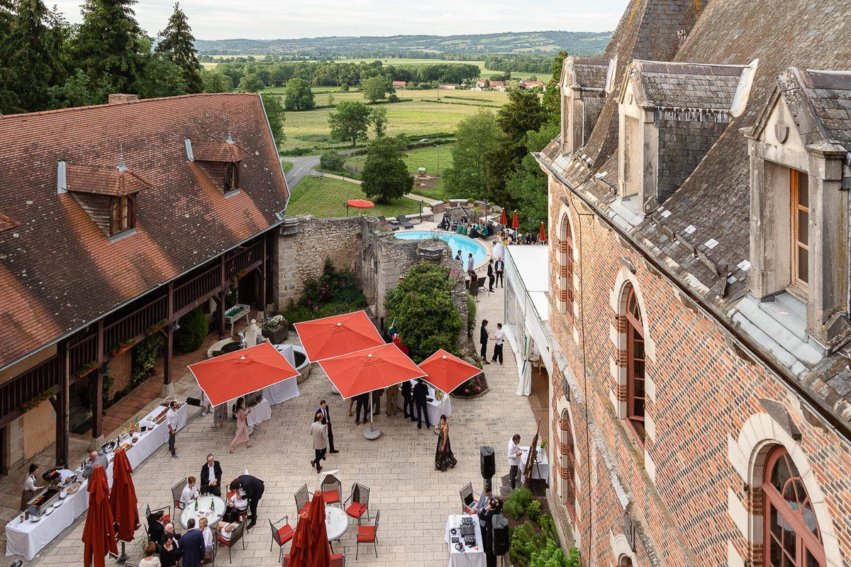 Wedding Party Chateau de Maulmont, Vichy, France
